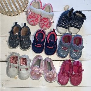 8 pairs Garanimals Surprize Baby Girl Sz 4 Shoes